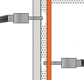 Isolation par injection des murs