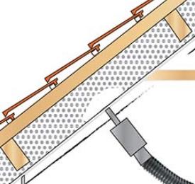Isolation par injection d'une sous-toiture